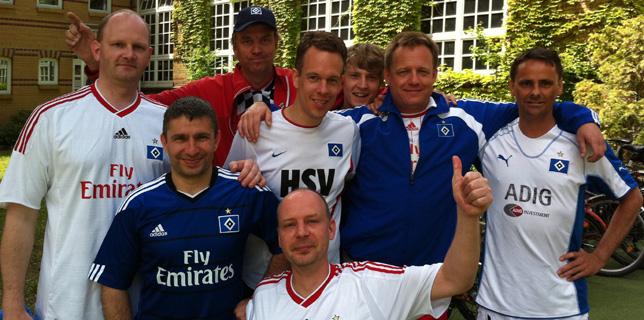 Das Team der HSV-Fanszene Berlin beim Bagaasch-Bup 2011