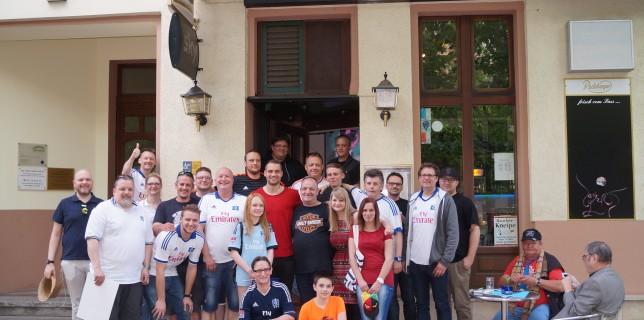Pierre-Michel Lasogga und Berliner HSV-Fans